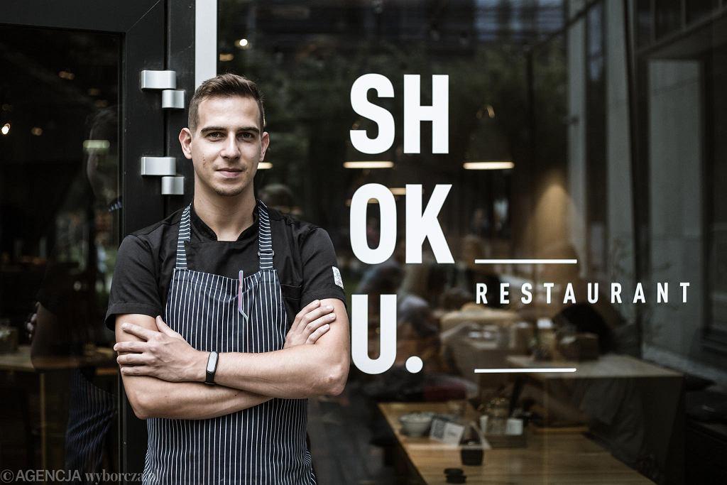 Maciej Kubicki, zastępca szefa kuchni restauracji Shoku / Fot. Adam Stępień / Agencja Gazeta