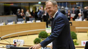 10.03.2017, Donald Tusk w Brukseli w dzień po przedłużeniu jego kadencji na stanowisku przewodniczącego Rady Europejskiej.