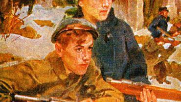 Obraz Wojciecha Kossaka 'Orlęta Lwowskie' z 1920 r.
