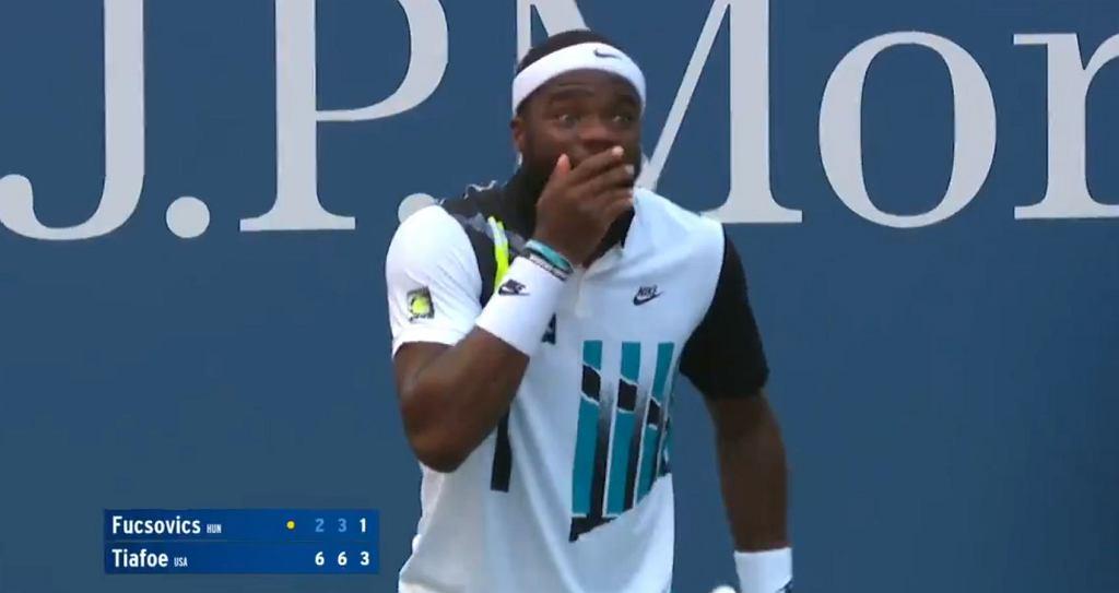 Niesamowite zagranie Fucsivucsa w US Open, po którym Tiafoe był w szoku