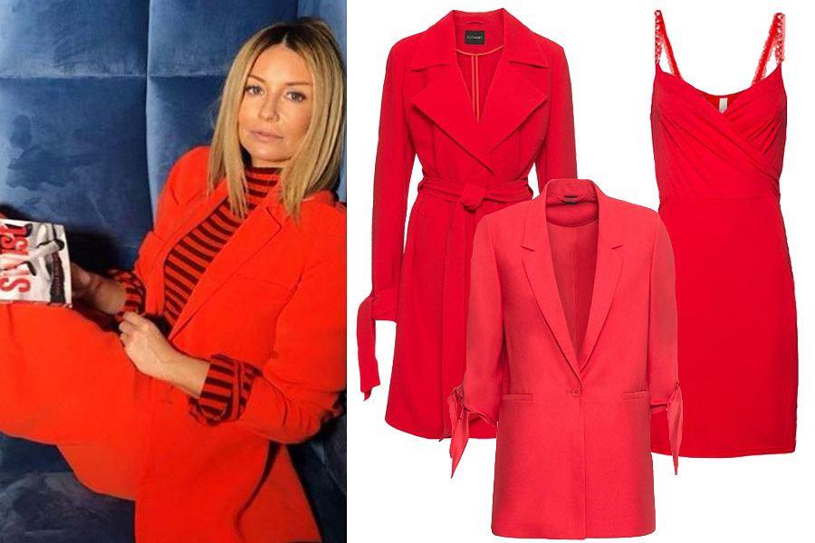 eleganckie czerwone ubrania / mat. partnera
