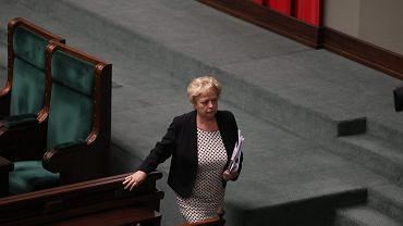 Pierwsza prezes Sądu Najwyższego Małgorzata Gersdorf podczas 46. posiedzenia Sejmu VIII Kadencji