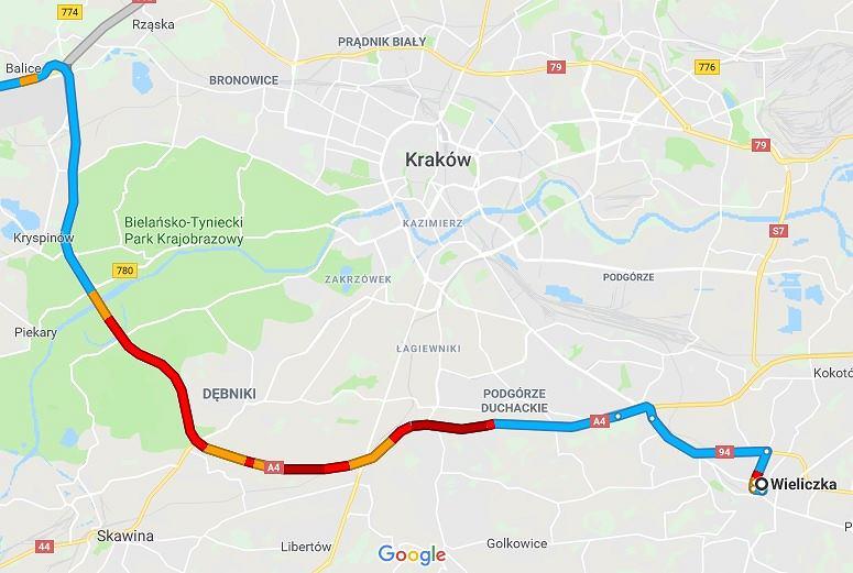 Korek na autostradzie A4 ma już 14 kilometrów długości
