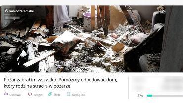 Policjanci ze Świętochłowic apelują o pomoc dla swojego kolegi. Kilka dni temu doszczętnie spłonął dom funkcjonariusza, a on i jego rodzina zostali bez najpotrzebniejszych rzeczy codziennego użytku