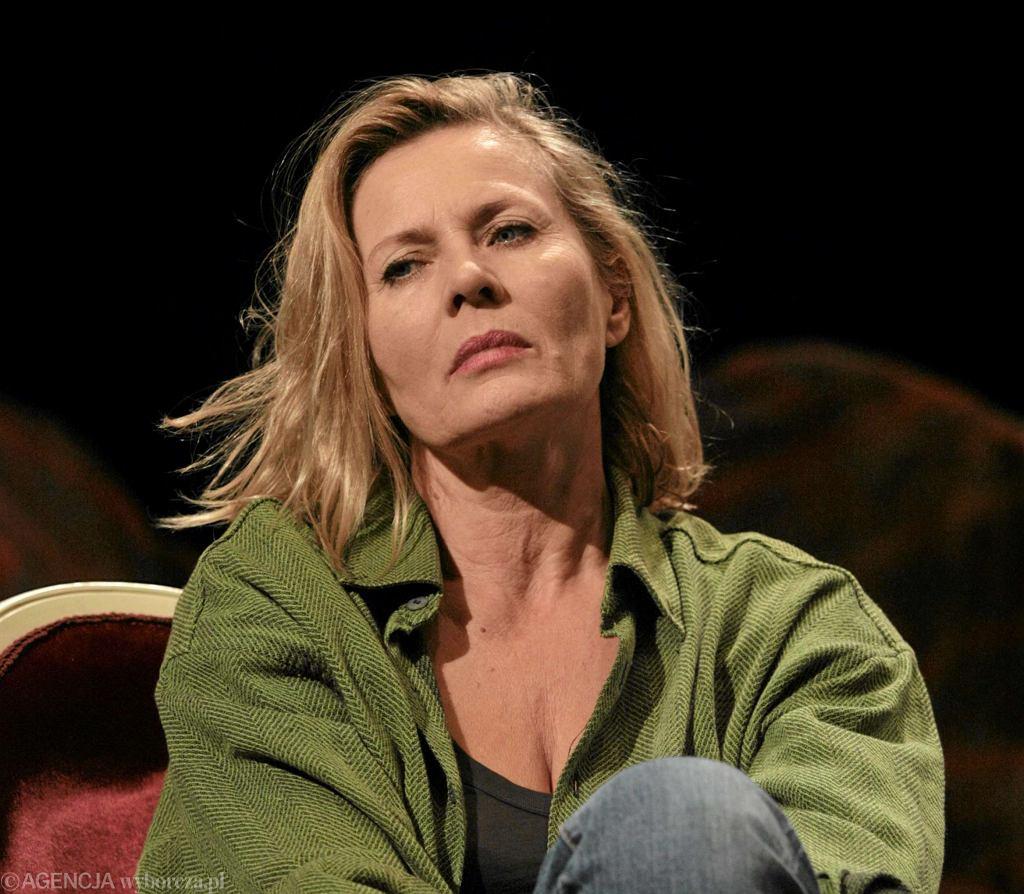 Grażyna Szapołowska na próbie spektaklu 'Tango' w Teatrze Narodowym