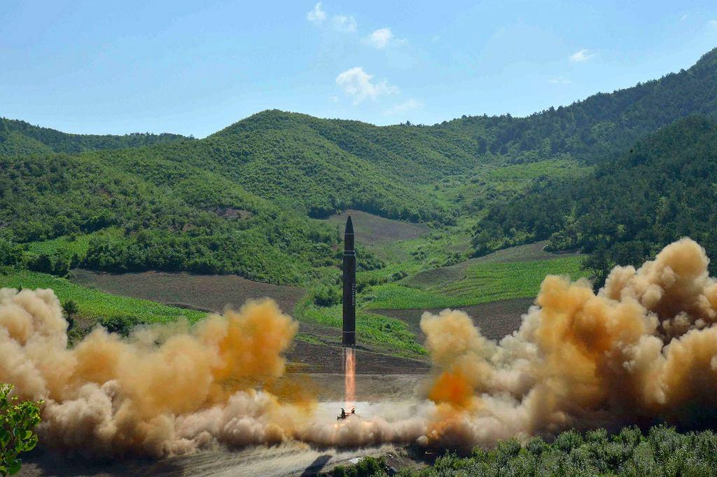 Interkontynentalna rakieta Hwasong-14, zdjęcie z 4 lipca
