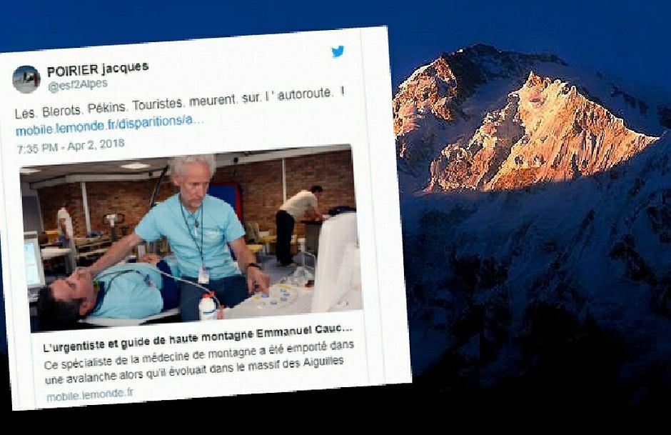 Emmanuel Cauchy, lekarz i przewodnik górski, który w styczniu kierował zdalnie akcją ratowania francuskiej himalaistki Elizabeth Revol, zginął w lawinie