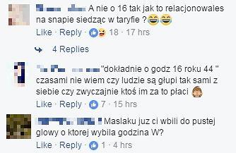 Komentarze na profilu Rafała Maślaka