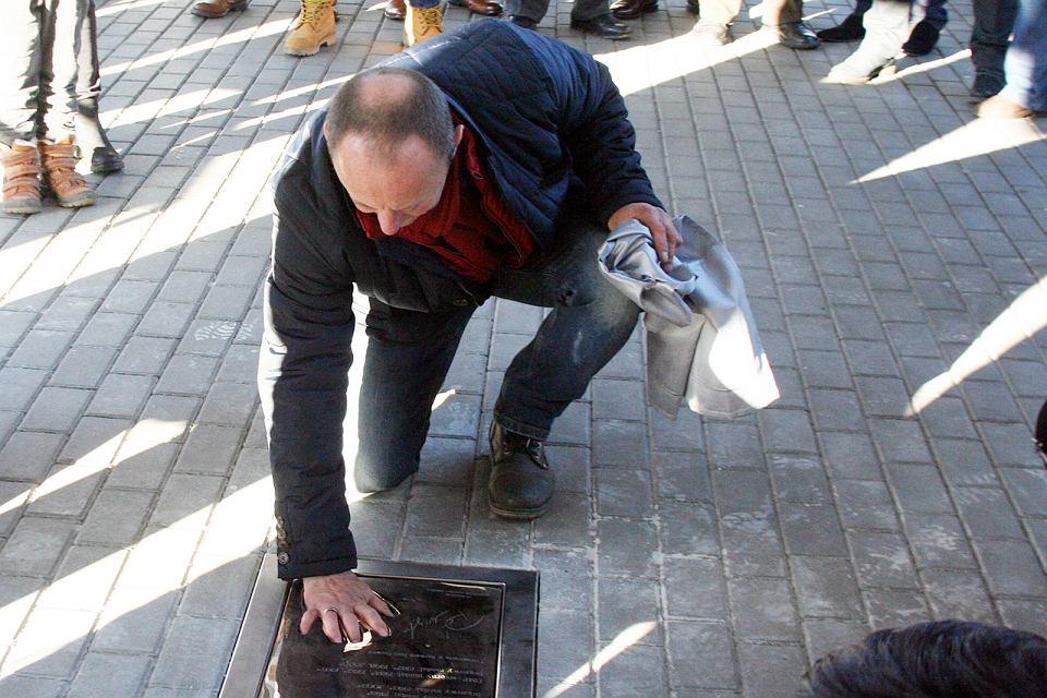 Piotr Świst 28 grudnia 2016 r. odsłonił swoją tablicę w Alei Sław Stali Gorzów