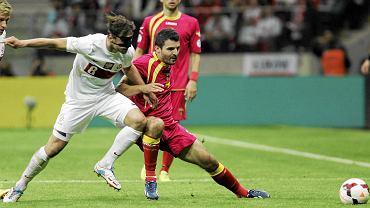 Grzegorz Krychowiak w meczu z Czarnogórą