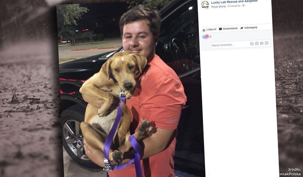 Pojechał ratować psy, nie zważając na zbliżający się huragan.