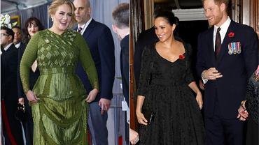 Adele, księżna Meghan, książę Harry