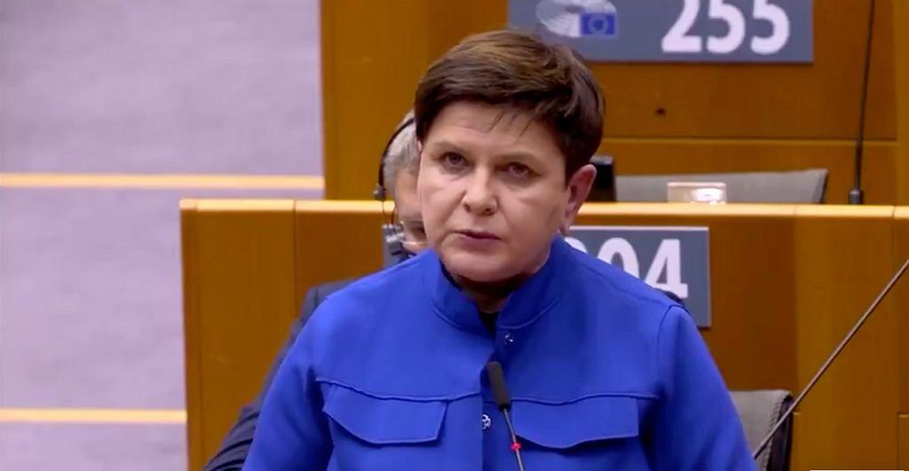 Beata Szydło w PE: W Polsce praworządność ma się doskonale. 'Czy wy jej w tej chwili nie łamiecie?'