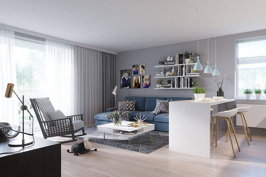 Osiedle Regaty, wizualizacja wnętrza mieszkania