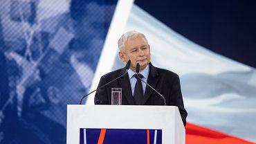 Jarosław Kaczyński podczas konwencji PiS pt. 'Nowa arena programowa'