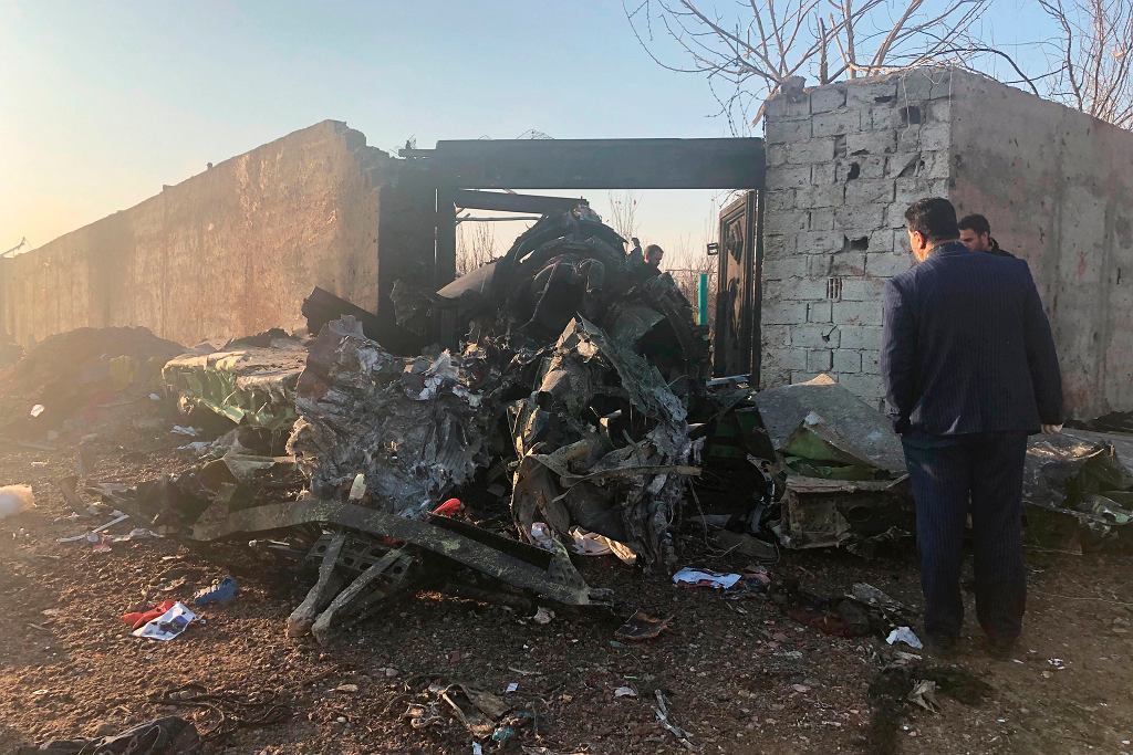 CORRECTION Iran Plane Crash