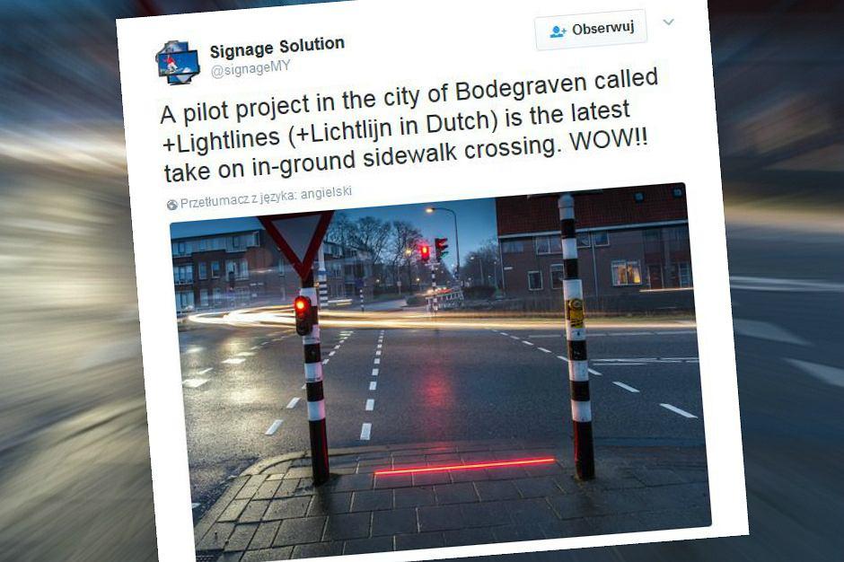 Holenderski pomysł na sygnalizację drogową