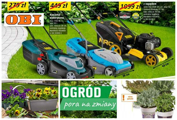 Pora na zmiany, czyli gazetka promocyjna Obi - odśwież ogród na wiosnę!