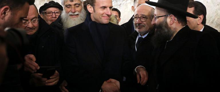 """Zdenerwowany Macron wyprosił z bazyliki izraelskich policjantów. """"Szanujmy zasady"""""""