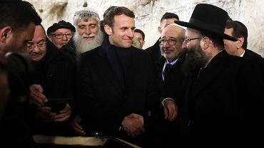 Emmanuel Macron w Jerozolimie