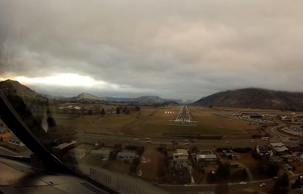Niesamowite nagranie z lądowania.