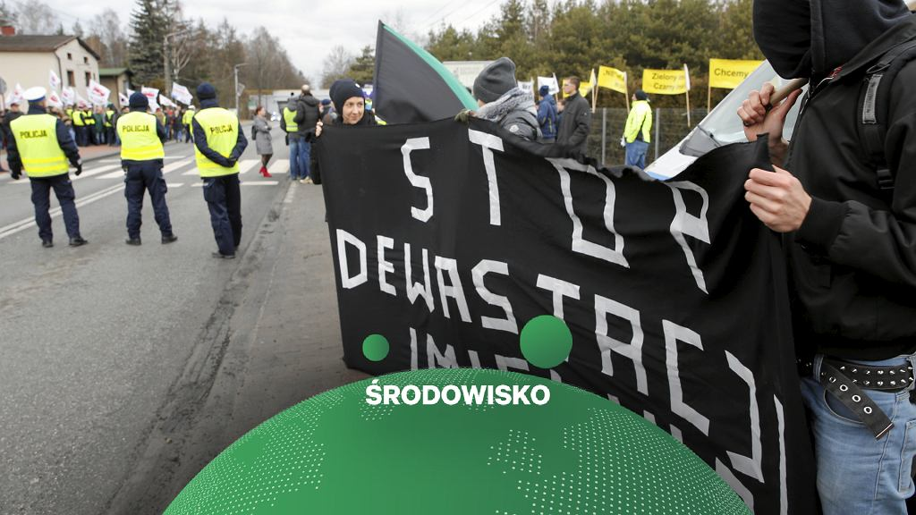 Protesty w Imielinie