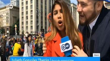 Reporterka napastowana na wizji