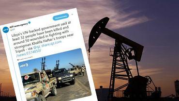 Ropa naftowa drożeje, w tle walki w Libii