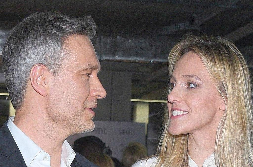 Michał Żebrowski z żoną, Aleksandrą Żebrowską
