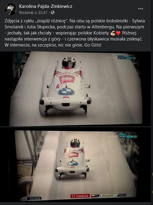 Start Sylwii Smolarek i Julii Słupeckiej