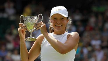 Iga Świątek podczas finału juniorskiego Wimbledonu