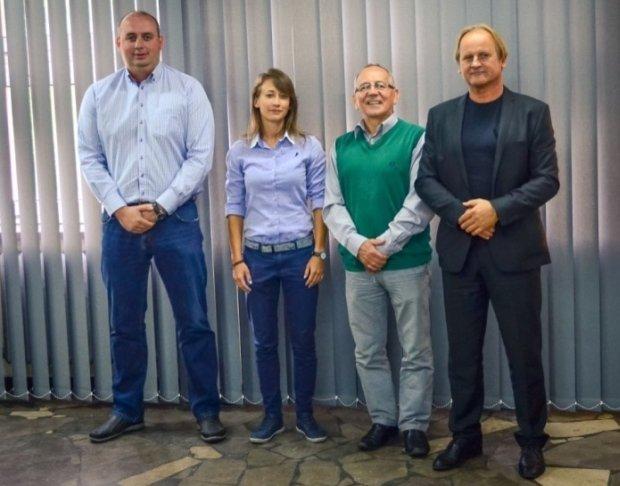 Od lewej: Wojciech Cygan, Dorota Morawska, Jan Średniewski i Sławomir Witek