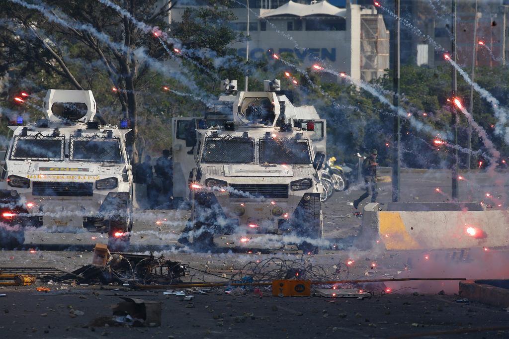 30.04.2019, starcia na ulicach Caracas