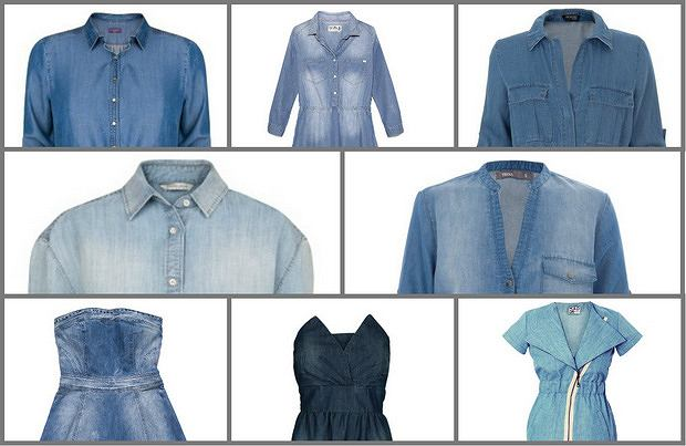 Dżinsowa obsesja - denimowe sukienki na wiosnę 2014