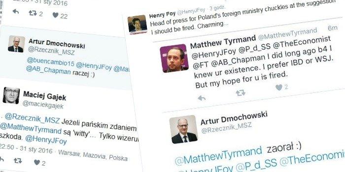Dyskusja na Twitterze z udziałem rzecznika polskiego MSZ