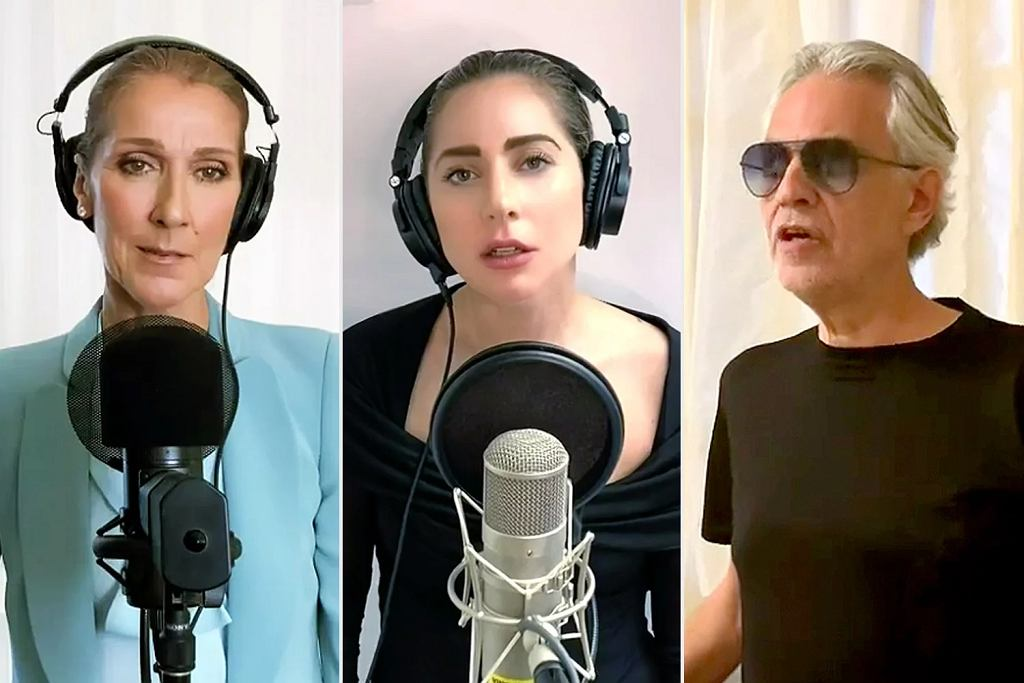 One World: Together at Home (Celine Dion, Lady Gaga, Andrea Bocelli)