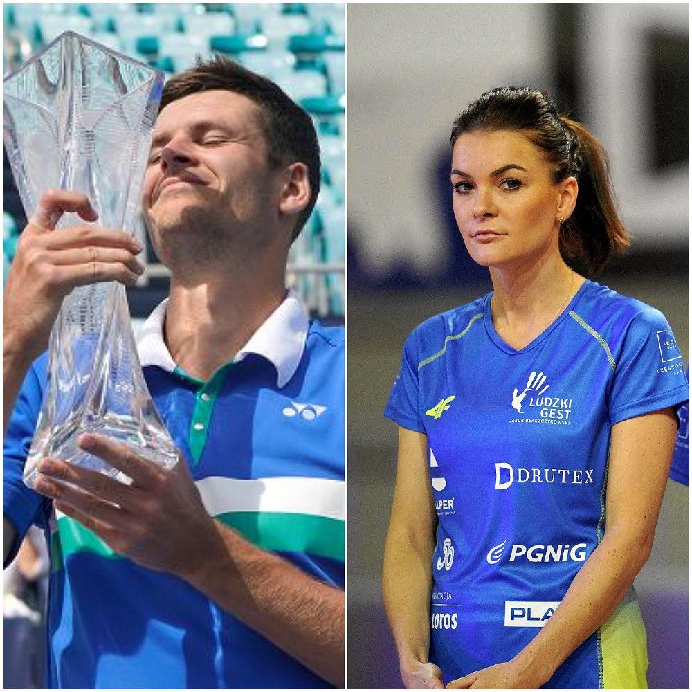 Hubert Hurkacz i Agnieszka Radwańska