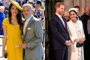 Amal Clooney, George Clooney, książę Harry i Meghan Markle