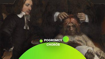 'Lekcję anatomii doktora Deymana' Rembrandt namalował w 1656 roku, ćwierć wieku po słynnej 'Lekcji anatomii doktora Tulpa'. Zachowała się tylko część obrazu, resztę strawił ogień w 1723 r.