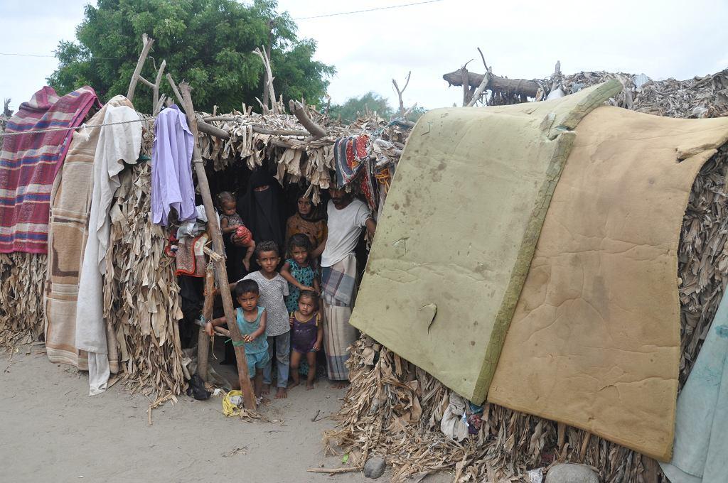 Obozowisko uchodźców wewnętrznych w Jemenie