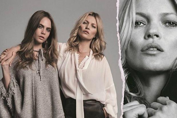 Kate Moss i Cara Delevingne w kampanii Mango jesień-zima 2015