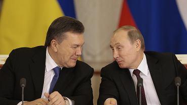 Wiktor Janukowycz i Władymir Putin podczas spotkania w Moskwie 17.12.2013.