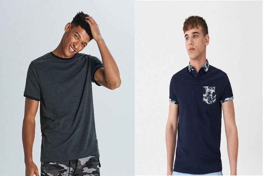 T-shirt męski w ciemnym kolorze