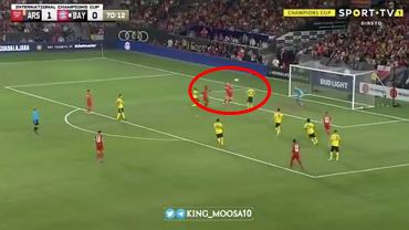Robert Lewandowski strzelił gola w meczu International Champions Cup z Arsenalem