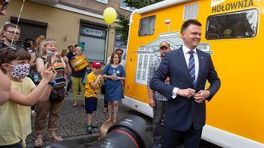 Białystok, 20 czerwca 2020. Szymon Hołownia na spotkaniu w Białymstoku ramach kampanii wyborczej