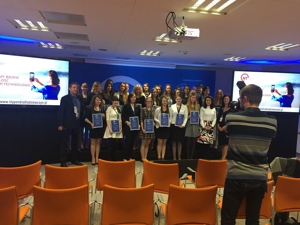 Stypendystki programu 'Nowe technologie dla dziewczyn'