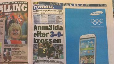 Szwedzka gazeta Aftonbladet po meczu AIK Solna - Lech Poznań 3:0