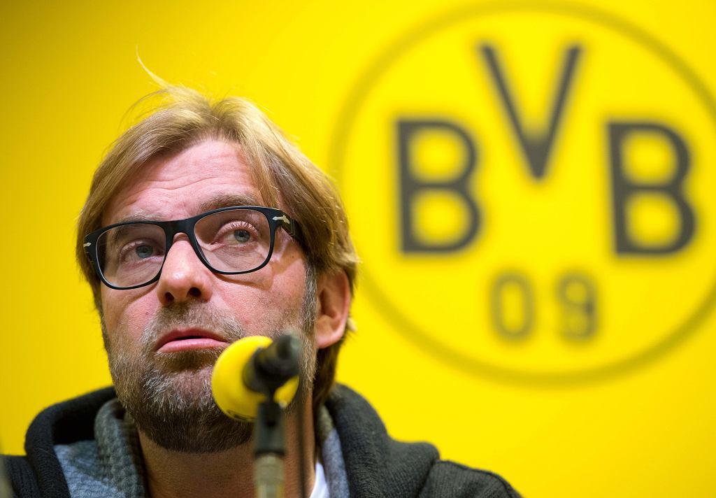 Juergen Klopp podczas konferencji przed meczem z Bayernem