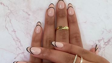 outline french mainicure