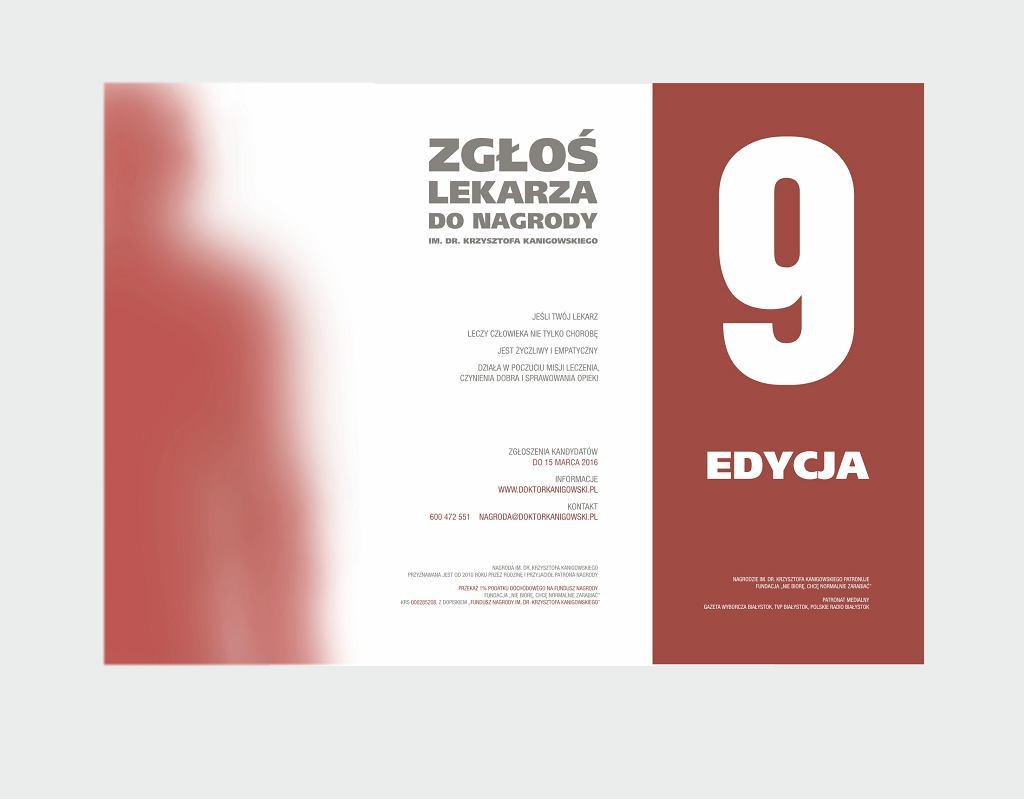 Plakat Nagrody im. Krzysztofa Kanigowskiego